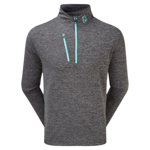 FootJoy Mens Heather Pinstripe Chillout Golf Pullover Sweater Jumper((NW))