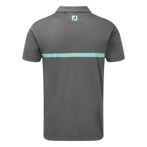 FootJoy Mens Engineered Nailhead Jacquard Golf Short Sleeve Polo Shirt ((NW)) reverse