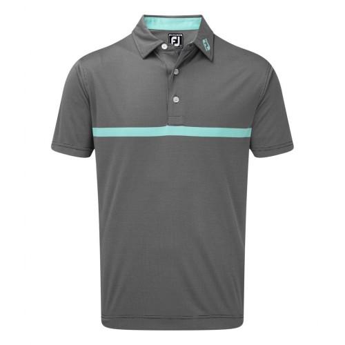 FootJoy Mens Engineered Nailhead Jacquard Golf Short Sleeve Polo Shirt ((NW))