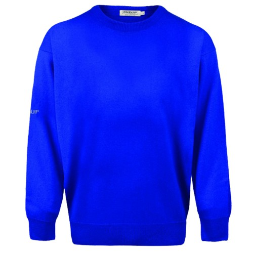 PROQUIP Water Repellent Mens Crew-Neck Lambswool Sweater Jumper Golf