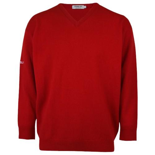 PROQUIP Water Repellent Mens V-Neck Lambswool Sweater Jumper Golf Pullover