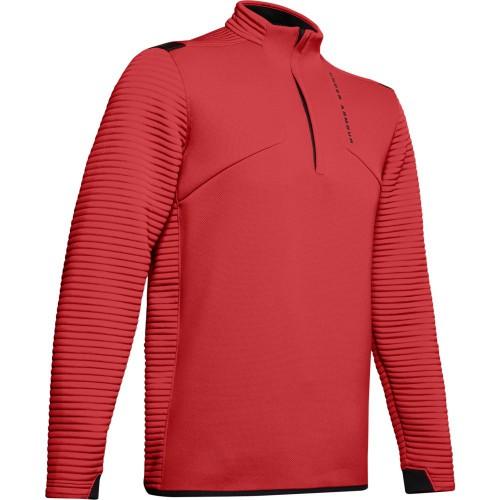 Under Armour Golf UA Storm Daytona Mens 1/2 Zip Sweater (Martian Red)