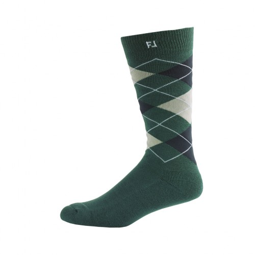 FootJoy Mens ProDry Fashion Crew Argyle Golf Socks