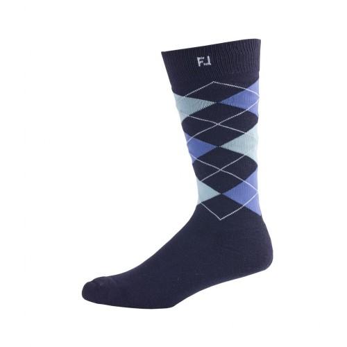 FootJoy Golf ProDry Fashion Crew Argyle Mens Socks (Navy)