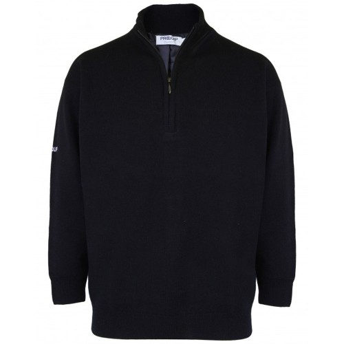 PROQUIP Lined Windproof Jumper 1/2 Zip Lambswool Water Repellent Golf Sweater