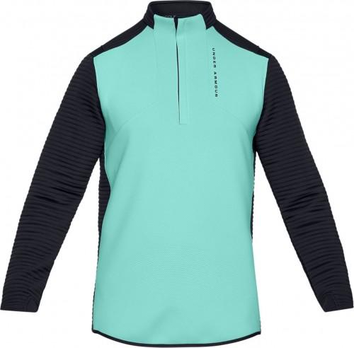 Under Armour Golf UA Storm Daytona Mens 1/2 Zip Sweater (Neo Turquoise)