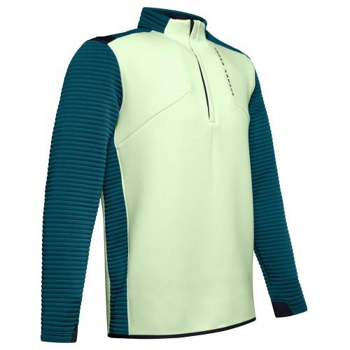 Under Armour Golf UA Storm Daytona Mens 1/2 Zip Sweater (Phosphor Green)