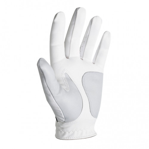 FootJoy Mens Weathersof Golf Gloves White & Black Left Hand (Right Handed Golfer) 1 Pack reverse