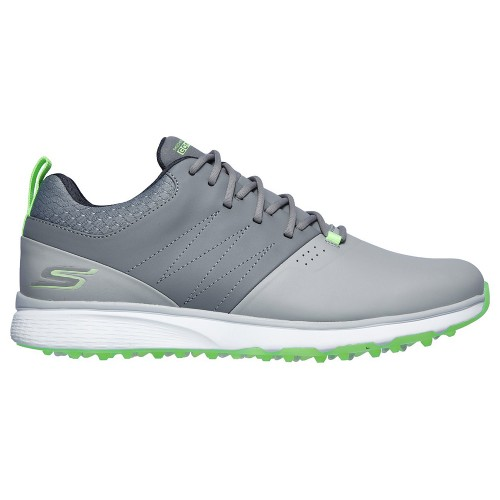 Skechers Go Golf Mojo Punch Shot Spikeless Mens Golf Shoes (Grey/Lime)