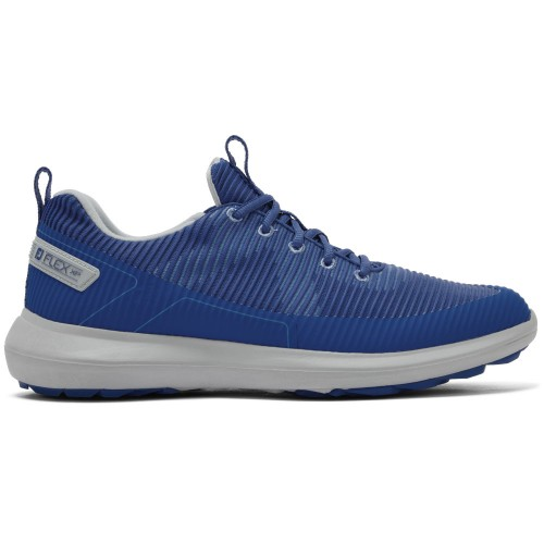 FootJoy Flex XP Spikeless Mens Golf Shoes (Blue)