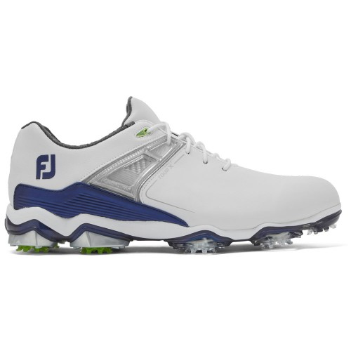 FootJoy Tour-X Mens Golf Shoes (White/Navy)