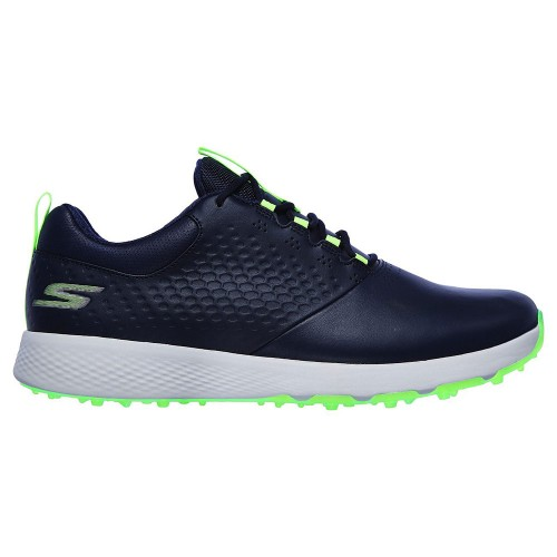 Skechers Go Golf Elite V.4 Mens Spikeless Golf Shoes (Navy/Lime)