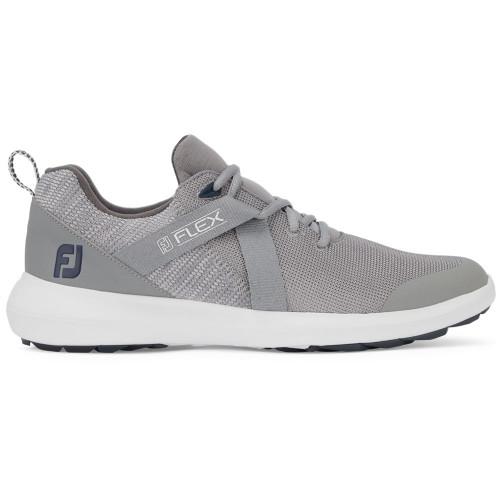 FootJoy Flex Lightweight Mesh Spikeless Mens Golf Shoes (Grey)