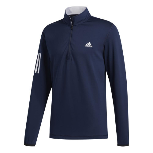 adidas Golf 3-Stripes Mens Midlayer (Collegiate Navy)