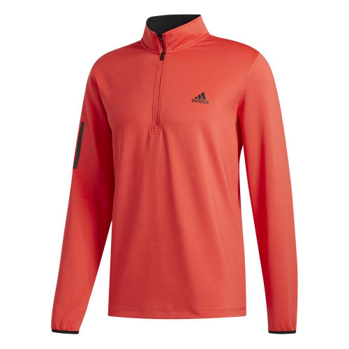 adidas Golf 3-Stripes Mens Midlayer (Real Coral)