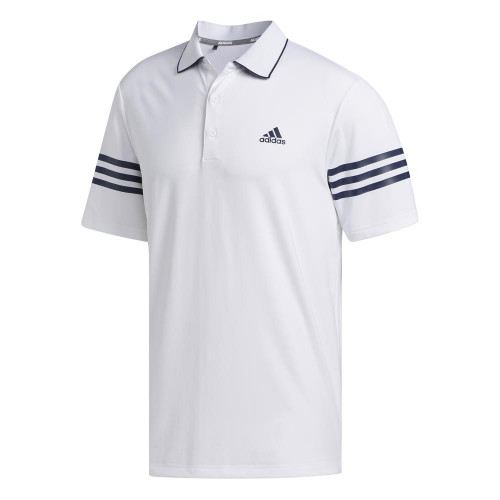 adidas Golf Ultimate365 Blocked Mens Polo Shirt (White/Collegiate Navy)