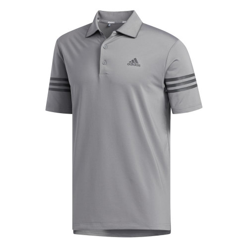 adidas Golf Ultimate365 Blocked Mens Polo Shirt (Grey Three/Grey Five)