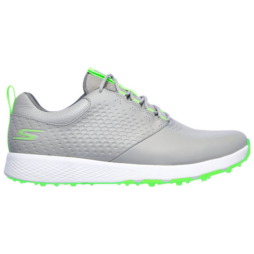 Skechers Go Golf Elite V.4 Mens Spikeless Golf Shoes (Grey/Lime)