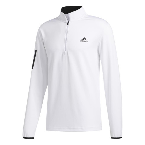 adidas Golf 3-Stripes Mens Midlayer (White/Black)
