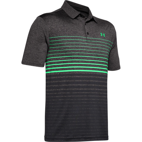 Under Armour Mens Gradiated Stripe PlayOff Golf Polo Shirt