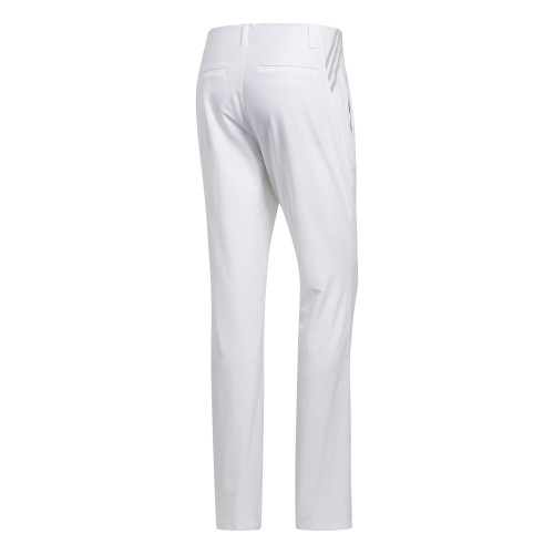 adidas Ultimate 365 3-Stripes Tapered Mens Golf Trousers (White)