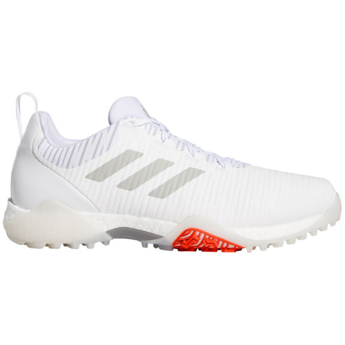 adidas CodeChaos Mens Spikeless Golf Shoes (White/Metal Grey)