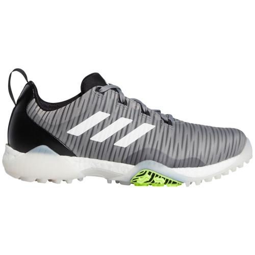 adidas CodeChaos Mens Spikeless Golf Shoes  - Grey Three/White/Signal Green