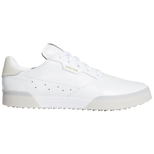 adidas Adicross Retro Mens Spikeless Golf Shoes (White/Gold Metallic)