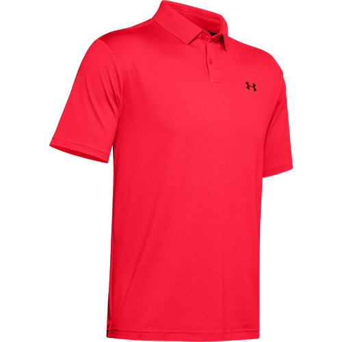 Under Armour Performance 2.0 Mens Golf Polo Shirt (Beta Red)