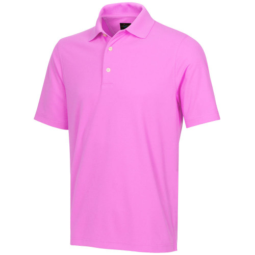 Greg Norman Mens Play Dry Protek Micro Pique Golf Polo Shirt