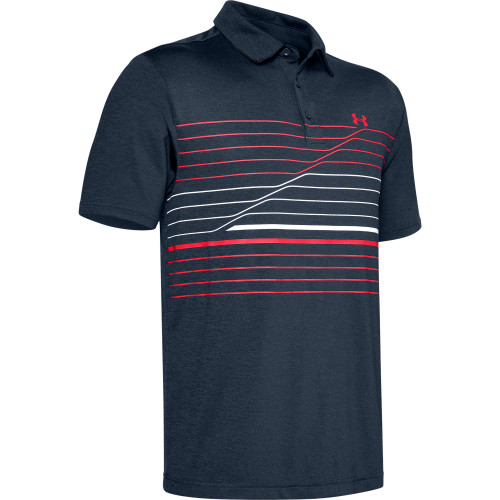 Under Armour Mens PlayOff Hero Graphic Golf Polo Shirt  - Academy/White/Beta