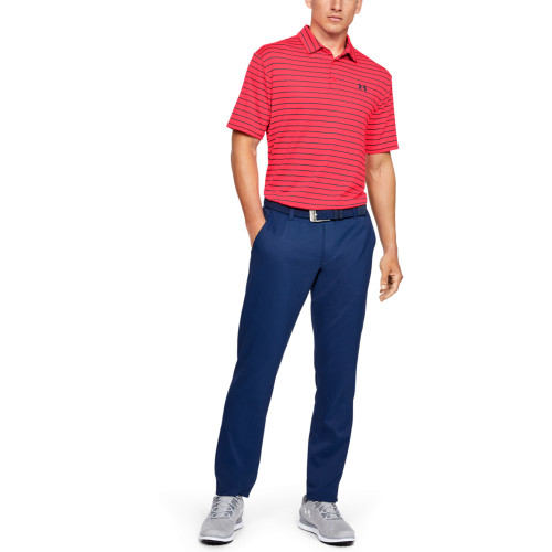 Under Armour Mens Tour Stripe PlayOff Golf Polo Shirt