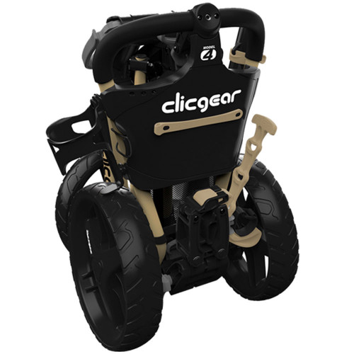 ClicGear Model 4.0 Golf Trolley 3-Wheel Push Cart + Umbrella Holder, Drinks Holder reverse