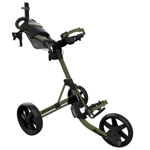 ClicGear 4.0 Golf Trolley Push Cart + Free Wheel Covers (Army Green)