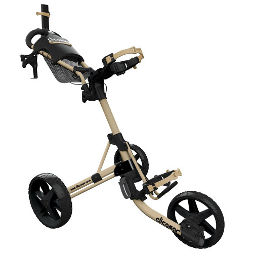 ClicGear Model 4.0 Golf Trolley 3-Wheel Push Cart + Umbrella Holder, Drinks Holder