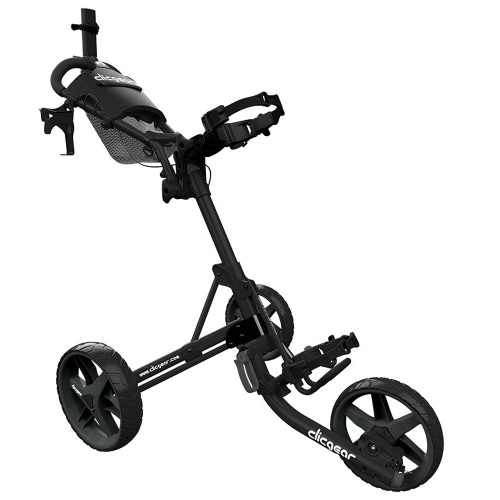 ClicGear 4.0 Golf Trolley Push Cart + Free Wheel Covers (Black)