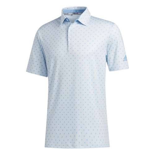 adidas Golf Ultimate365 Badge of Sport Mens Polo Shirt (Sky Tint/Light Blue)