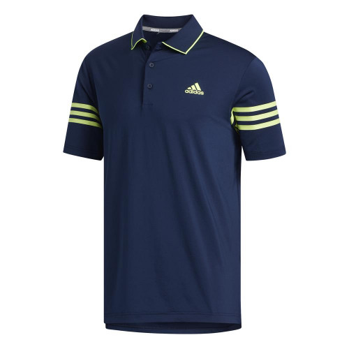adidas Golf Ultimate365 Blocked Mens Polo Shirt (Collegiate Navy/Solar Yellow)