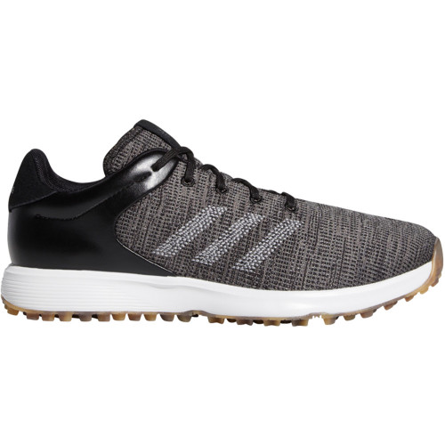 adidas S2G Mens Waterproof Spikeless Golf Shoes (Core Black/Grey Three)