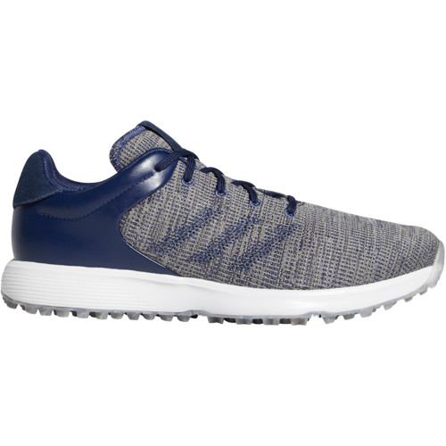adidas S2G Mens Waterproof Spikeless Golf Shoes (Tech Indigo/Collegiate Navy/Grey)