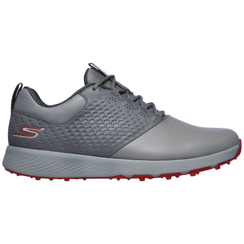 Skechers Go Golf Elite V.4 Mens Spikeless Golf Shoes (Charcoal/Red)