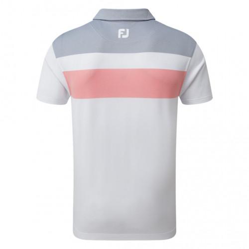 FootJoy Golf Double Block Birdseye Pique Mens Polo Shirt reverse