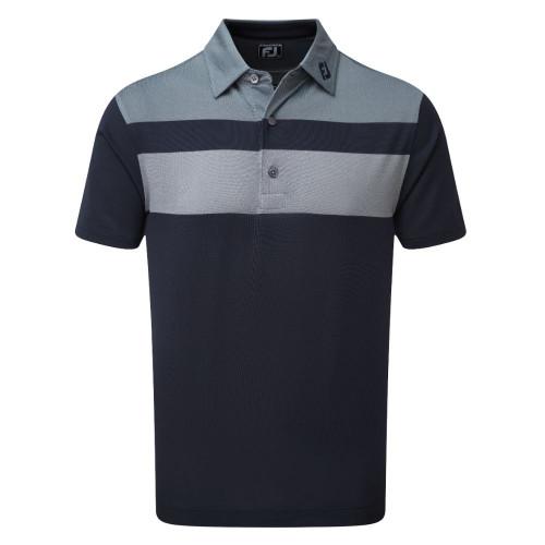 FootJoy Golf Double Block Birdseye Pique Mens Polo Shirt