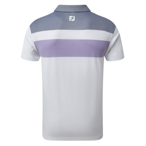 FootJoy Golf Double Block Birdseye Pique Mens Polo Shirt reverse