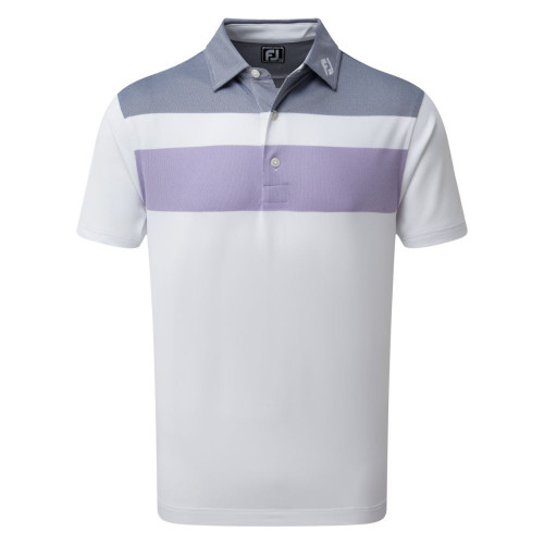 FootJoy Golf Double Block Birdseye Pique Mens Polo Shirt