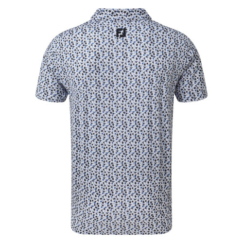 FootJoy Golf Lisle Flower Print Mens Polo Shirt reverse