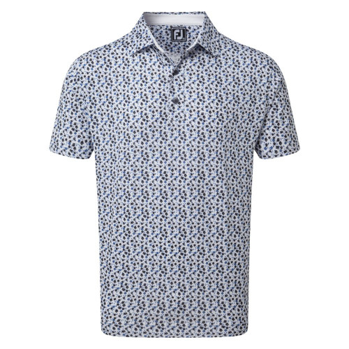 FootJoy Golf Lisle Flower Print Mens Polo Shirt