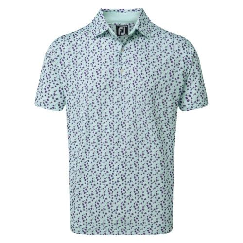 FootJoy Golf Lisle Flower Print Mens Polo Shirt
