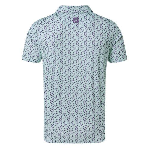 FootJoy Golf Lisle Flower Print Mens Polo Shirt reverse