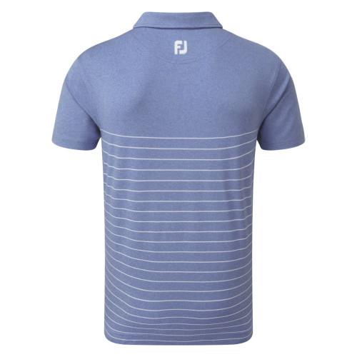 FootJoy Golf Heather Lisle Engineered Pinstripe Mens Polo Shirt reverse